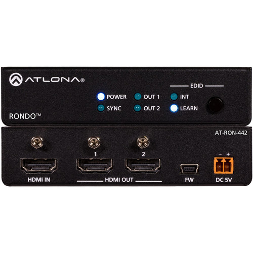 Atlona Rondo 442 4K/HDR 1x2 HDMI Distribution Amplifier