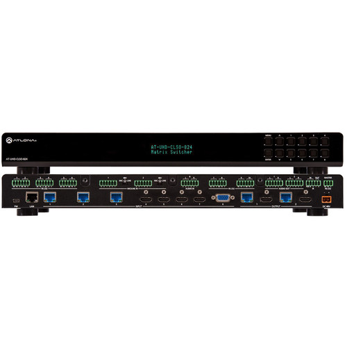 Atlona 4K/UHD 8x2 Multi-Format Matrix Switcher with Dual HDBaseT/Mirrored HDMI