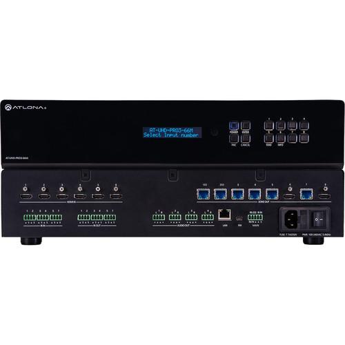 Atlona 4K/UHD Dual-Distance 6x6 HDMI to HDBaseT Matrix Switcher with PoE
