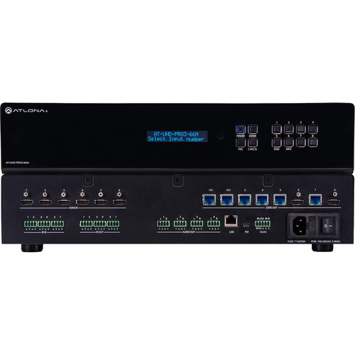 Atlona 4K/UHD Dual-Distance 6x6 HDMI to HDBaseT Matrix Switcher with PoE