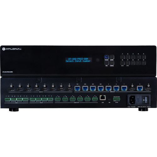 Atlona 4K/UHD Dual-Distance 8x8 HDMI to HDBaseT Matrix Switcher with PoE