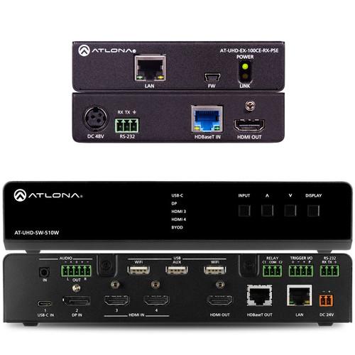 Atlona SW-510W 4K/UHD Universal Switcher and HDBaseT Receiver Kit