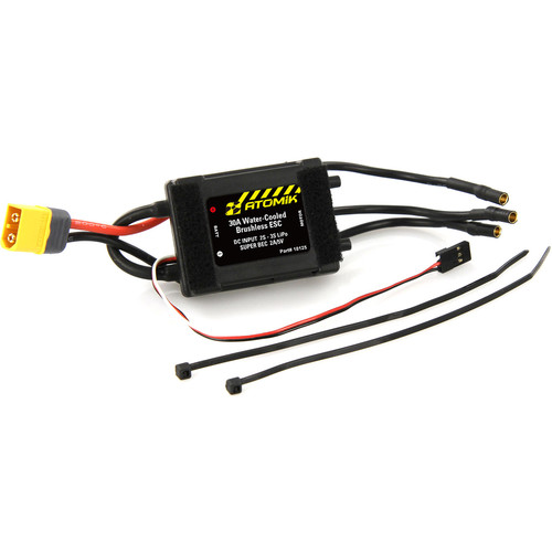 Atomik RC 30A Water-Cooled Brushless Electronic Speed Controller for Barbwire 2 RC Boat