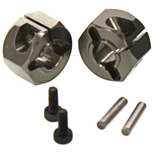 Atomik RC Alloy Hex Wheel Hub Set (Gun Metal)