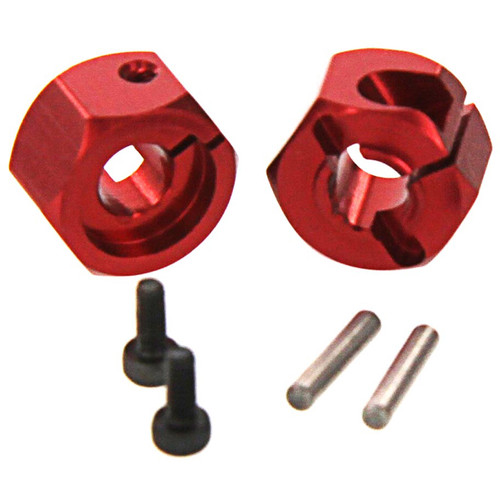 Atomik RC Alloy Hex Wheel Hub Set (Red)