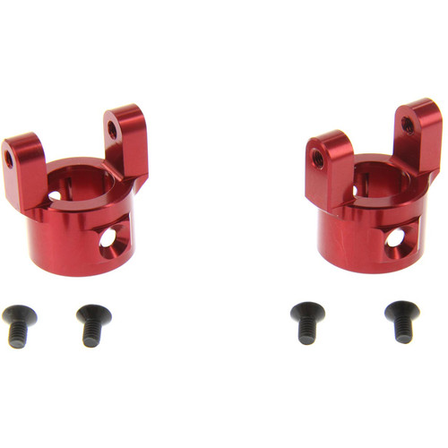Atomik RC Alloy C Hub for 1:10 Axial SCX10 (Red)