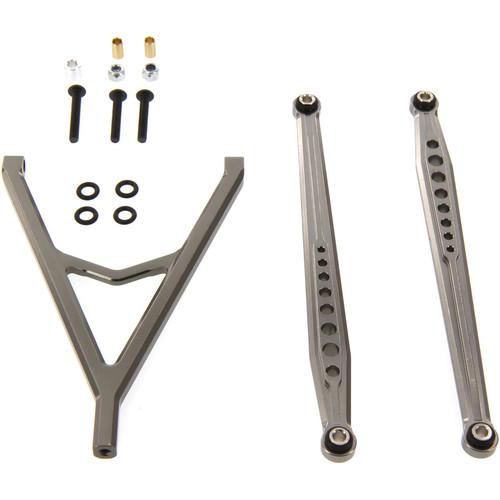 Atomik RC Aluminum Alloy Front Link Set Hop-Up for Axial SCX10 (Gunmetal)