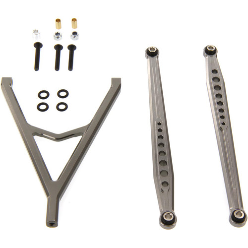 Atomik RC Alloy Front Link Set Upper/Lower for 1:10 Axial SCX10 (Gray)