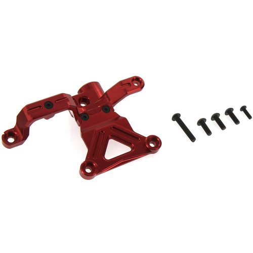 Atomik RC Traxxas X-Maxx Alloy Steering Bellcrank Support (Red)