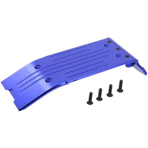 Atomik RC Traxxas X-Maxx Alloy Rear Skid Plate (Blue)