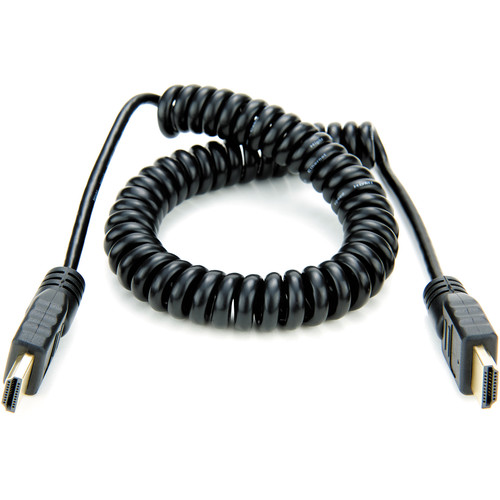 """Atomos Full HDMI to Full HDMI Coiled Cable (19.7 to 25.6"""")"""