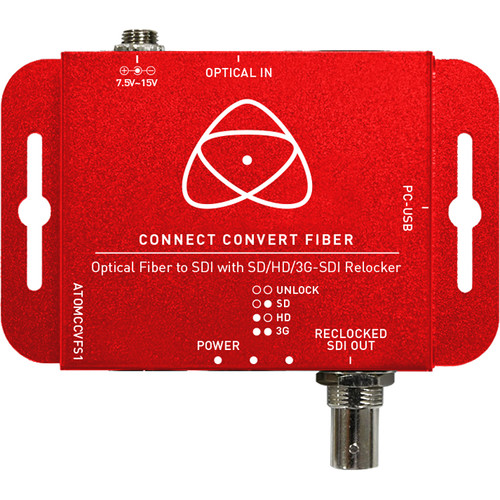Atomos Connect Convert Fiber   Fiber to SDI