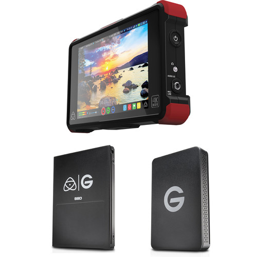 Atomos Ninja Flame with 256GB G-Technology SSD Kit