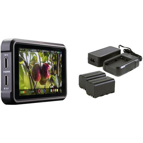 "Atomos Ninja V 5"" 4K HDMI Recording Monitor Kit with 2 L-Series Batteries, Charger, and Power Adapter"