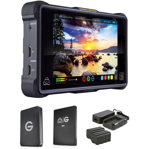 Atomos Shogun Inferno with G-Technology 2TB SSD, Reader, and Power Kit