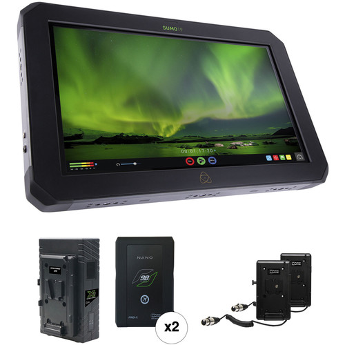 "Atomos Sumo 19"" HDR/High-Brightness Monitor Recorder Kit with 2 V-Mount Batteries"