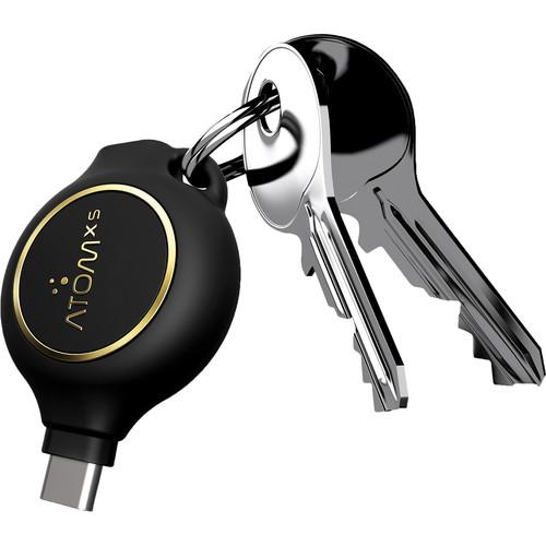 AtomXS 3-Hour Key Chain Emergency Charger (1300mAh, USB Type-C)