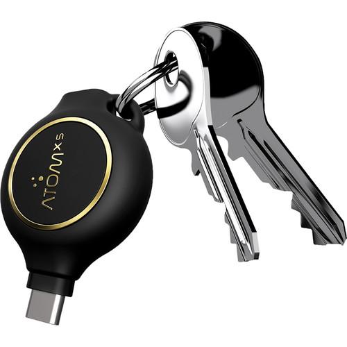 AtomXS 2-Hour Key Chain Emergency Charger (800mAh, USB Type-C)