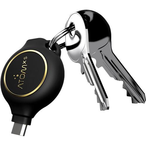 AtomXS 3-Hour Key Chain Emergency Charger (1300mAh, Micro-USB)