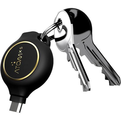 AtomXS 2-Hour Key Chain Emergency Charger (800mAh, Micro-USB)