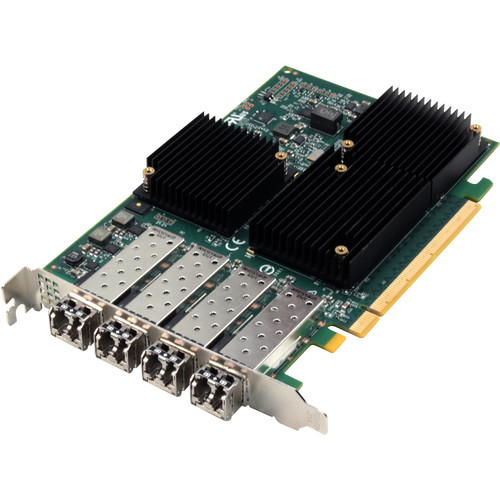 ATTO Technology Celerity FC-324E Quad-Channel 32 Gbps Fibre Channel PCIe 3.0 Host Bus Adapter with SFPs
