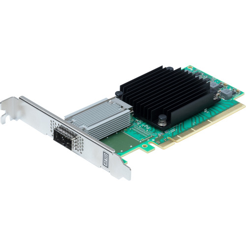 ATTO Technology FastFrame N311 QSFP28 Single-Port 100GbE PCIe 3.0 Optical Interface