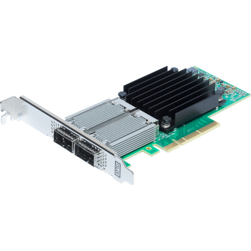 ATTO Technology FastFrame N352 QSFP28 Dual-Port 50GbE PCIe 3.0 Optical Interface