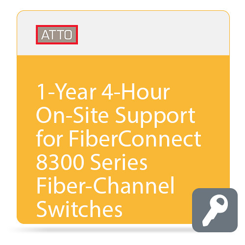 ATTO Technology 4-Hour On-Site Support for FibreConnect 8300-Series Fiber-Channel Switches (1-Year)