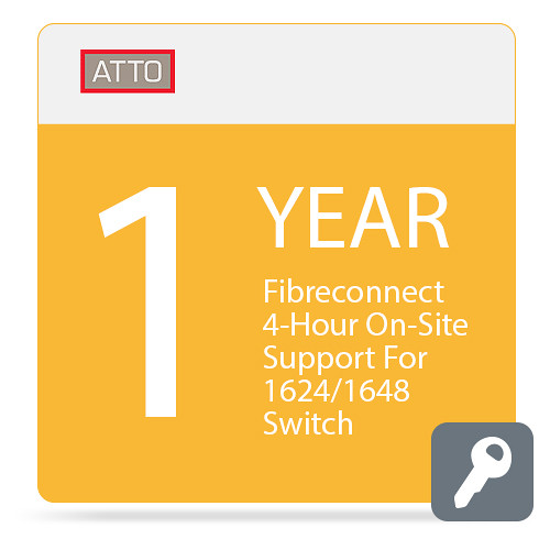 ATTO Technology FibreConnect 4-Hour On-Site Support for 1624/1648 Switch (1-Year)