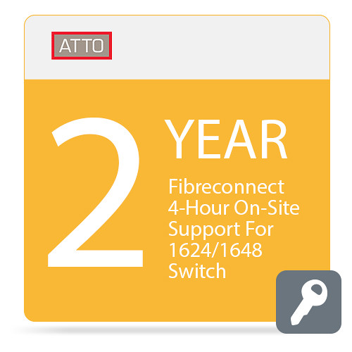ATTO Technology FibreConnect 4-Hour On-Site Support for 1624/1648 Switch (2-Year)