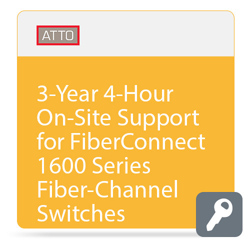 ATTO Technology 4-Hour On-Site Support for FibreConnect 1600-Series Fiber-Channel Switches (3-Year)