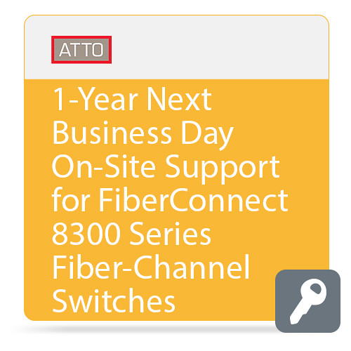 ATTO Technology Next Business Day On-Site Support for FibreConnect 8300-Series Fiber-Channel Switches (1-Year)