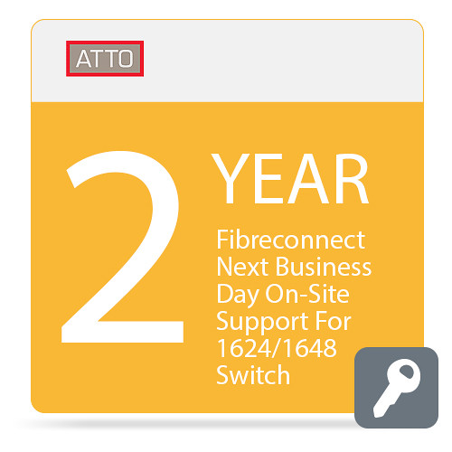ATTO Technology FibreConnect Next Business Day On-Site Support for 1624/1648 Switch (2-Year)