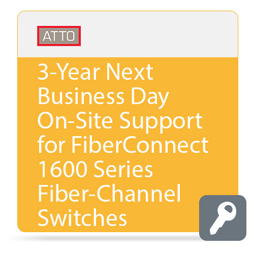 ATTO Technology Next Business Day On-Site Support for FibreConnect 1600-Series Fiber-Channel Switches (3-Year)