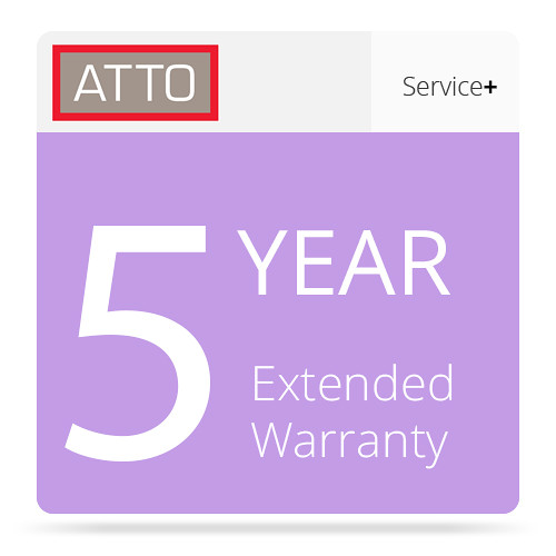 ATTO Technology 5-Year Extended Warranty for ATTO Storage Controllers & Switches