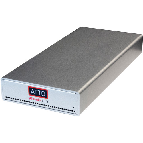 ATTO Technology ThunderLink FC 3322 Thunderbolt 3 to 32 Gb/s Fibre Channel Adapter with UK/EMEA Power Cords