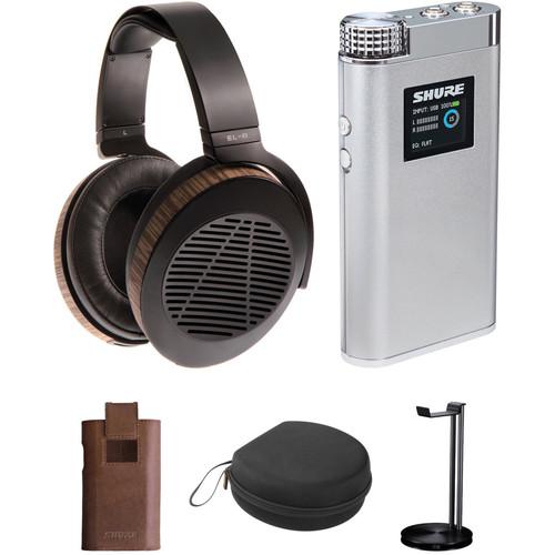 Audeze EL-8 Headphones and Shure SHA900 Portable Amplifier Kit (Open-Back)