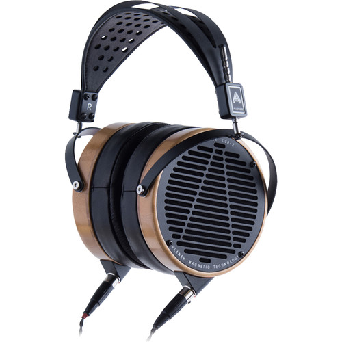 Audeze LCD-2 High-Performance Planar Magnetic Headphone with Ruggedized Travel Case (Bamboo, Lambskin Leather)