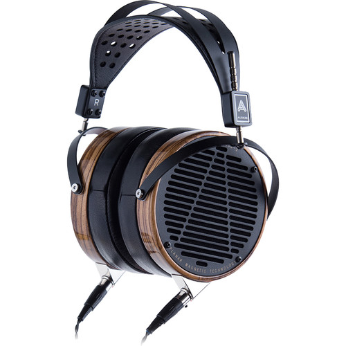 Audeze LCD-3 - High Performance Planar Magnetic Headphone With Ruggedized Travel Case (Zebrano Earcups, Lambskin Leather Earpads)