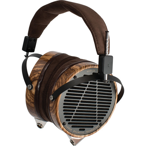 Audeze LCD-3 - High Performance Planar Magnetic Headphone With Wooden Show Case (Zebrano, Leather-Free Microsuede)