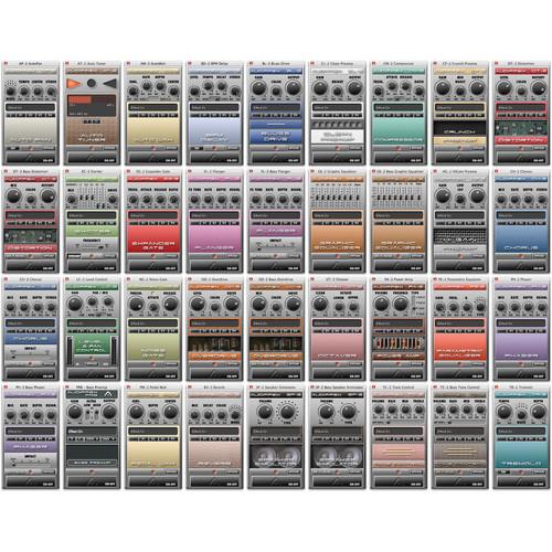 audiffex pedals software set of 36 plug ins for guitar 10 12039. Black Bedroom Furniture Sets. Home Design Ideas
