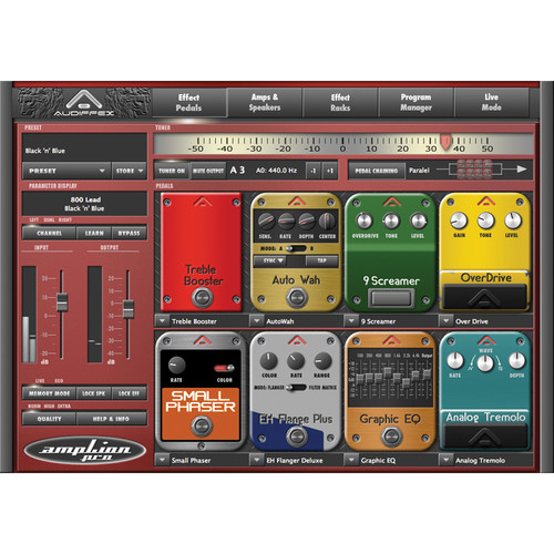 Audiffex ampLion Pro All-in-One Guitar Solution Software (Electronic Download)