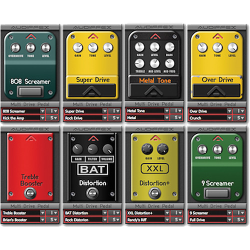 Audiffex Multi Drive Pedal Software (Electronic Download)