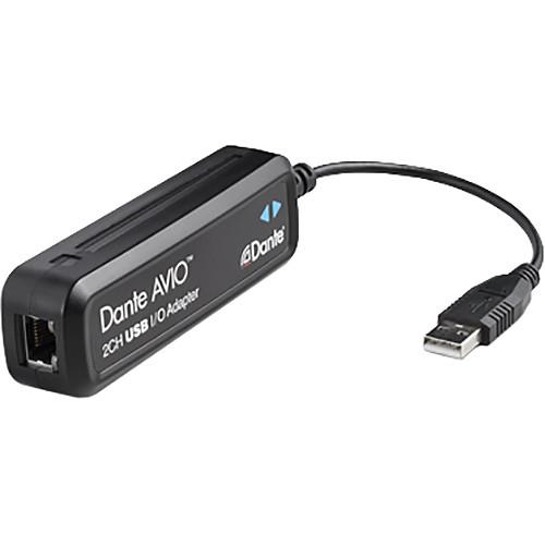Audinate Dante AVIO 2x2 USB I/O Adapter for Dante Audio Network