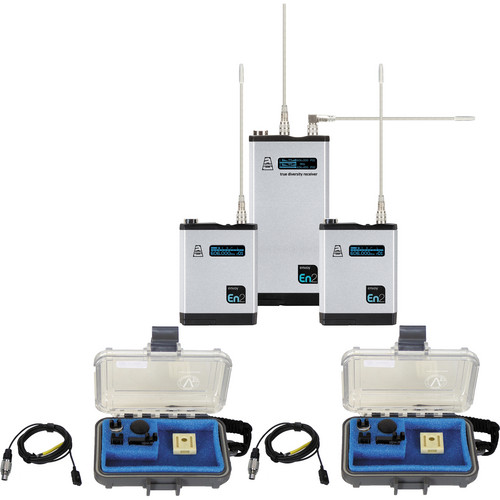 Audio Ltd. Dual TXPH Transmitter and DX2 Receiver System with VT500 Mics (614 to 654 MHz)