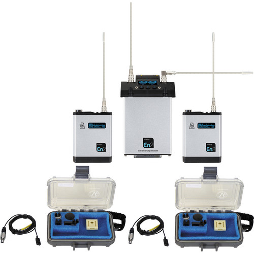 Audio Ltd. Dual TXPH Transmitter and CX2-P Receiver System with VT500 Mics (542 to 572 MHz)