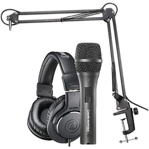 Audio-Technica AT2005USB Microphone Pack with ATH-M20x, Boom & Mini-USB Cable