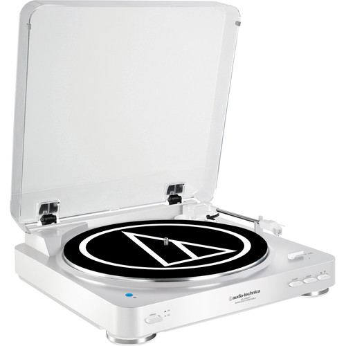 Audio-Technica AT-LP60WH-BT Turntable with Bluetooth (White)