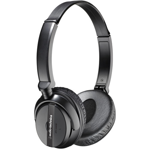 Audio-Technica Consumer ATH-ANC20 QuietPoint Active Noise-Cancelling On-Ear Headphones