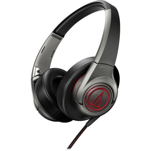 Audio-Technica SonicFuel ATH-AX5 Over-Ear Headphones (Gun Metal)